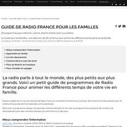 Guide de Radio France pour les familles