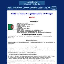 Guide des recherches généalogiques dans le monde