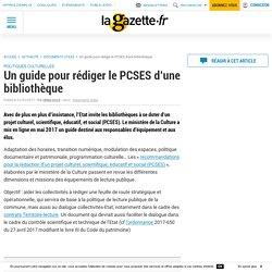 Un guide pour rédiger le PCSES d'une bibliothèque