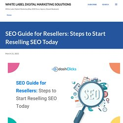SEO Guide for Resellers: Steps to Start Reselling SEO Today