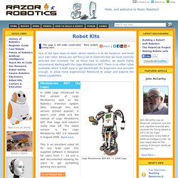 A guide to the best robot kits available - Razor Robotics