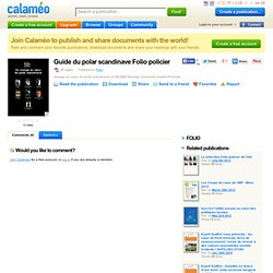 Guide du polar scandinave Folio policier