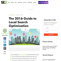The 2016 Guide to Local Search Optimization