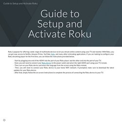 Guide to Setup and Activate Roku