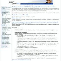 Guide du simulateur de calcul - Études