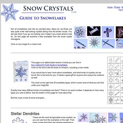 Guide to Snowflakes - SnowCrystals.com