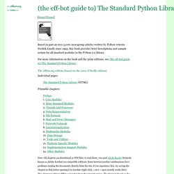 (the eff-bot guide to) The Standard Python Library