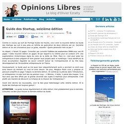 Guide des Startup, seizième édition