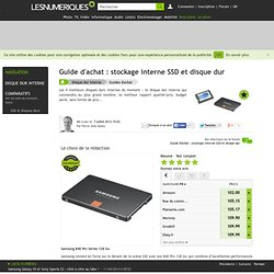 Guide d'achat : Disques durs et SSD, nos préférés