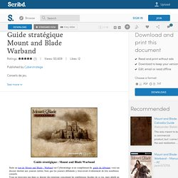 Guide stratégique Mount and Blade Warband