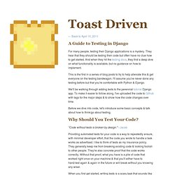 A Guide to Testing in Django - Toast Driven