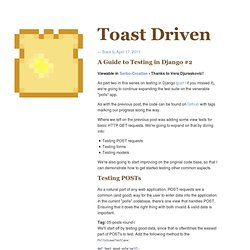 A Guide to Testing in Django #2 - Toast Driven