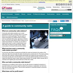 A guide to community radio