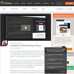 A Guide to CSS Inlining in Email