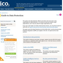 Guide to data protection