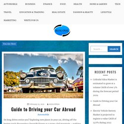 Guide to Driving your Car Abroad