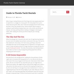 Guide to Florida Yacht Rentals