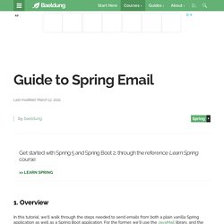 Guide to Spring Email