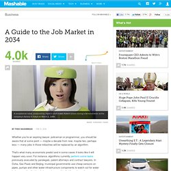 A Guide to the Job Market in 2034