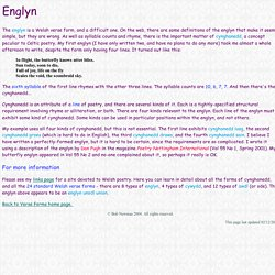 Guide to Verse Forms - Englyn