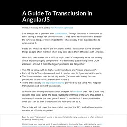 A Guide To Transclusion in AngularJS