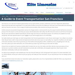 A Guide to Event Transportation in San Francisco