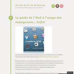 Le guide de l'iPad à l'usage des enseignants… Enfin!