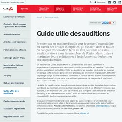 Guide utile des auditions