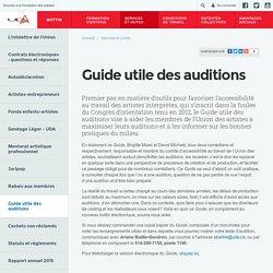 Guide utile des auditions