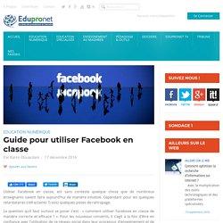 Guide pour utiliser Facebook en classe