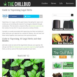 Guide to Vaporizing Legal Herbs – The Chill Bud