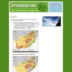 Guide voyage sur l'Afrique du Sud. Cartes