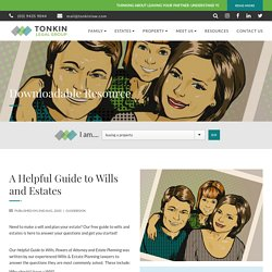 Get A Free Guide On Wills and Estates