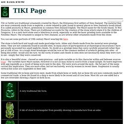 Tiki Page - A guide to the New Zealand Maori jade pendants
