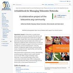 Telecentre Wikibook