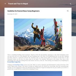 Guideline for Everest Base Camp Beginners