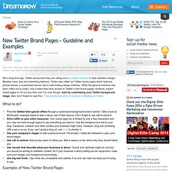 New Twitter Brand Pages – Guideline and Examples