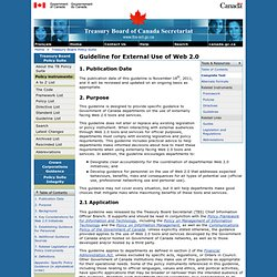 Guideline for External Use of Web 2.0