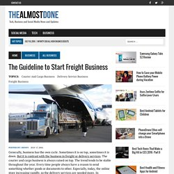 The Guideline to Start Freight Business