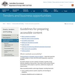 Guidelines for preparing accessible content