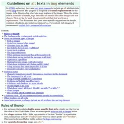 Guidelines on ALT texts in IMG elements