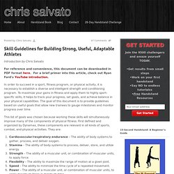 Skill Guidelines for Building Strong, Useful, Adaptable Athletes