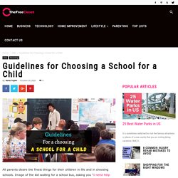 Guidelines for Choosing a School for a Child - The Free Closet