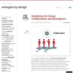 Guidelines for Group Collaboration and Emergence
