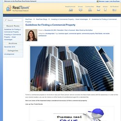 Guidelines for Finding a Commercial Property