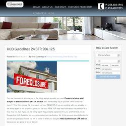 HUD Guidelines 24 CFR 206.125