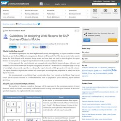 Guidelines for designing Webi Reports for SAP B...