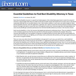 Essential Guidelines to Find Best Disability Attorney in Texas