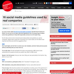 16 social media guidelines used by real companies