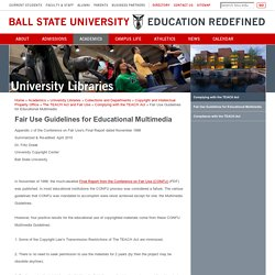 Fair Use Guidelines for Educational Multimedia
